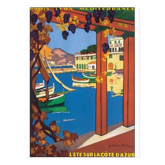 L'Ete Sur La Cote D'Azur Vintage Travel Poster