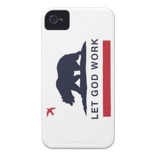 LETGOdwork Bear iPhone 4/4s Case White