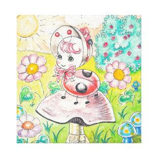 Letitia Ladybug Canvas Print
