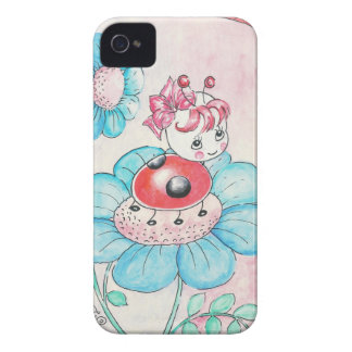 Letitia Ladybug On Flower iPhone 4 Case