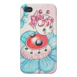 Letitia Ladybug On Flower iPhone 4/4S Case