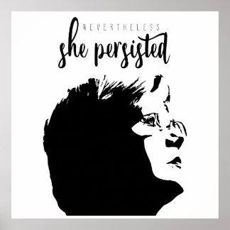 """#LetLizSpeak """"Nevertheless, She Persisted"""" Poster"""