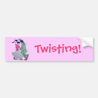 lets all do the twist swing dancers bumper sticker