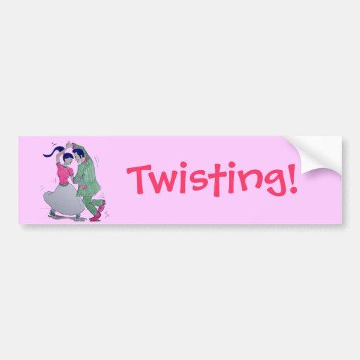 lets all do the twist swing dancers bumper sticker