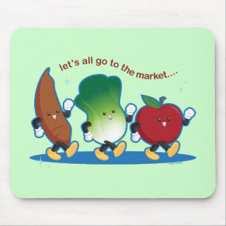 Let's All Go to the Market Mouse Pad