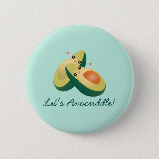 Let's Avocuddle Funny Cute Avocados Pun Humor 6 Cm Round Badge