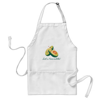 Let's Avocuddle Funny Cute Avocados Pun Humor Standard Apron