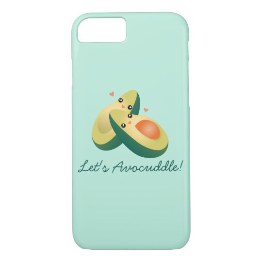Let's Avocuddle Funny Cute Avocados Pun Humour iPhone