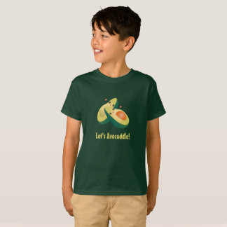 Let's Avocuddle Funny Cute Avocados Pun Humour T-Shirt