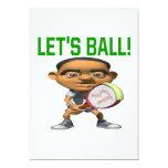 Lets Ball 13 Cm X 18 Cm Invitation Card