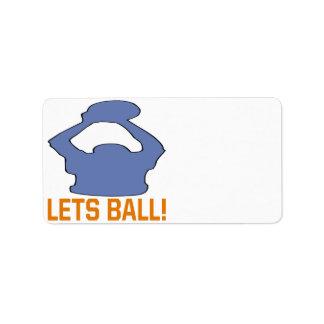 Lets Ball Address Label