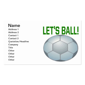 Lets Ball Business Card Template