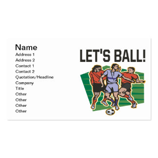 Lets Ball Pack Of Standard Business Cards