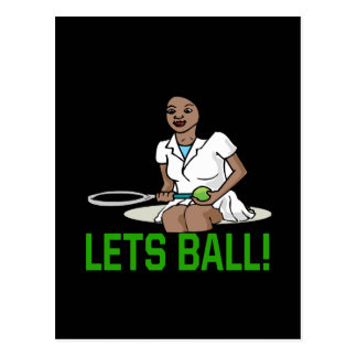 Lets Ball Post Card
