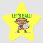 Lets Ball Star Stickers