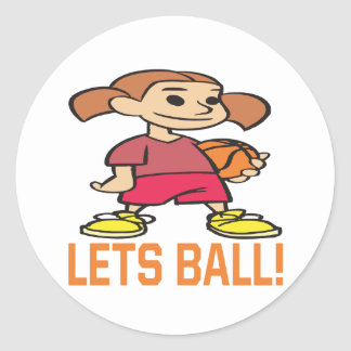 Lets Ball Round Stickers