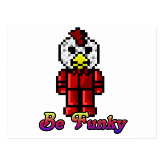 Lets be a Funky Chicken Postcard