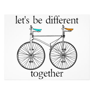 Let's Be Different Together 21.5 Cm X 28 Cm Flyer