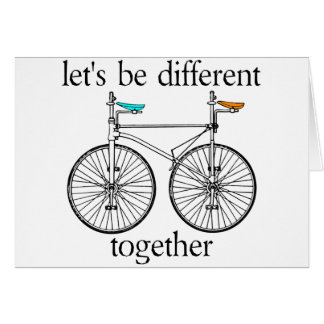 Let's Be Different Together Greeting Cards