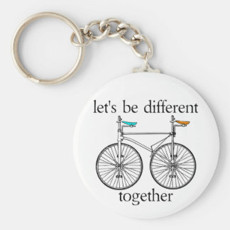 Let's Be Different Together Key Ring