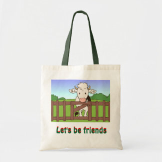 Let's be friends 2 tote bag