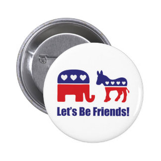 Let's Be Friends! 6 Cm Round Badge
