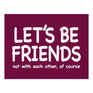 Let's be friends - distressed version 21.5 cm x 28 cm flyer
