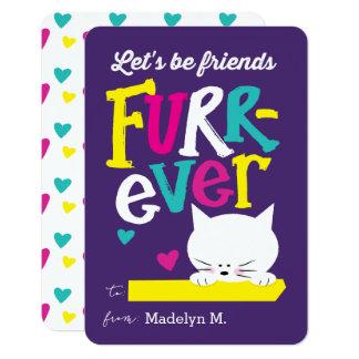 Let's be Friends FURR-ever Classroom Valentine 9 Cm X 13 Cm Invitation Card