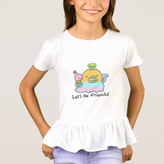 Let's Be Friends Girls' Ruffle T-Shirt