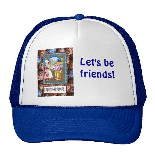 Let's be friends mesh hat
