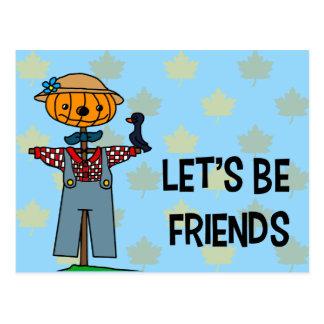 Let's Be Friends Postcard