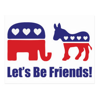 Let's Be Friends! Postcard