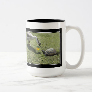 Let's Be Friends - The Turtle & The Goose Two-Tone Mug