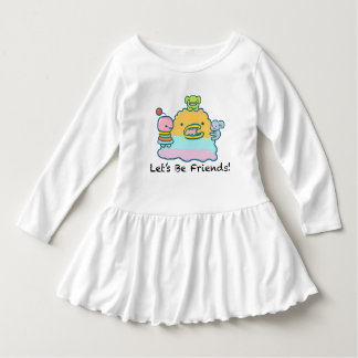 Let's Be Friends Toddler Ruffle Dress