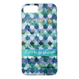 Let's be mermaids-Colorful Mermaidscales Pattern iPhone 8/7 Case