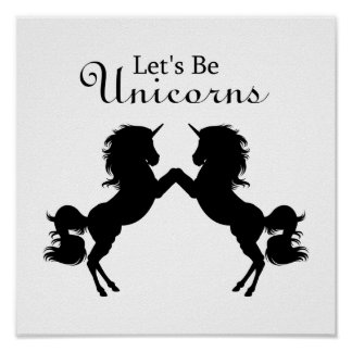 Let's Be Unicorns Poster