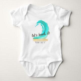 Let's Beach It Baby Jersey Bodysuit