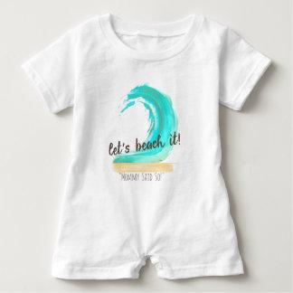 Let's Beach It! Custom Baby Romper Baby Bodysuit