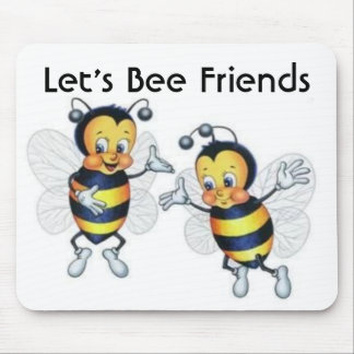 Let's Bee Friends Mouse Mat