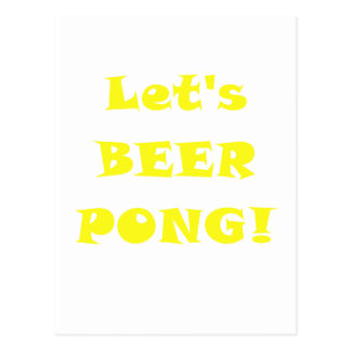 Lets Beer Pong Post Card