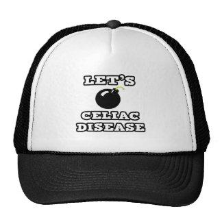 Let's Bomb Celiac Disease Mesh Hats
