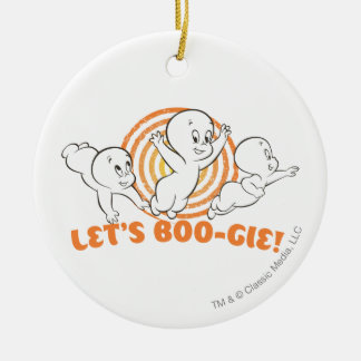Let's Boo-gie Round Ceramic Decoration