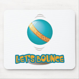 Lets Bounce Bouncing Ball Mouse Mat
