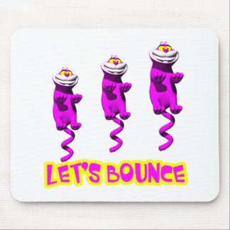 Lets Bounce Bouncing Kitty Cat Mouse Pad