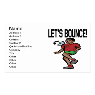 Lets Bounce Business Cards