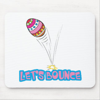 Lets Bounce Easter Egg Mouse Pad