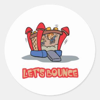 Lets Bounce Jump Castle Round Sticker