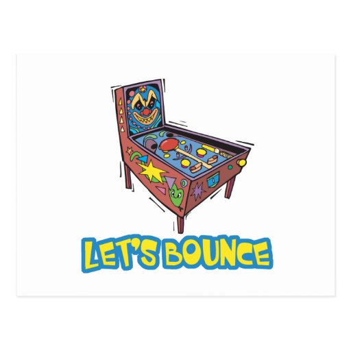 Lets Bounce Pinball Machine Postcards