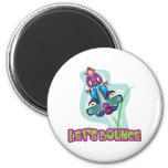 Lets Bounce Pogo Stick 6 Cm Round Magnet