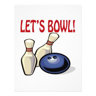 Lets Bowl Flyer Design